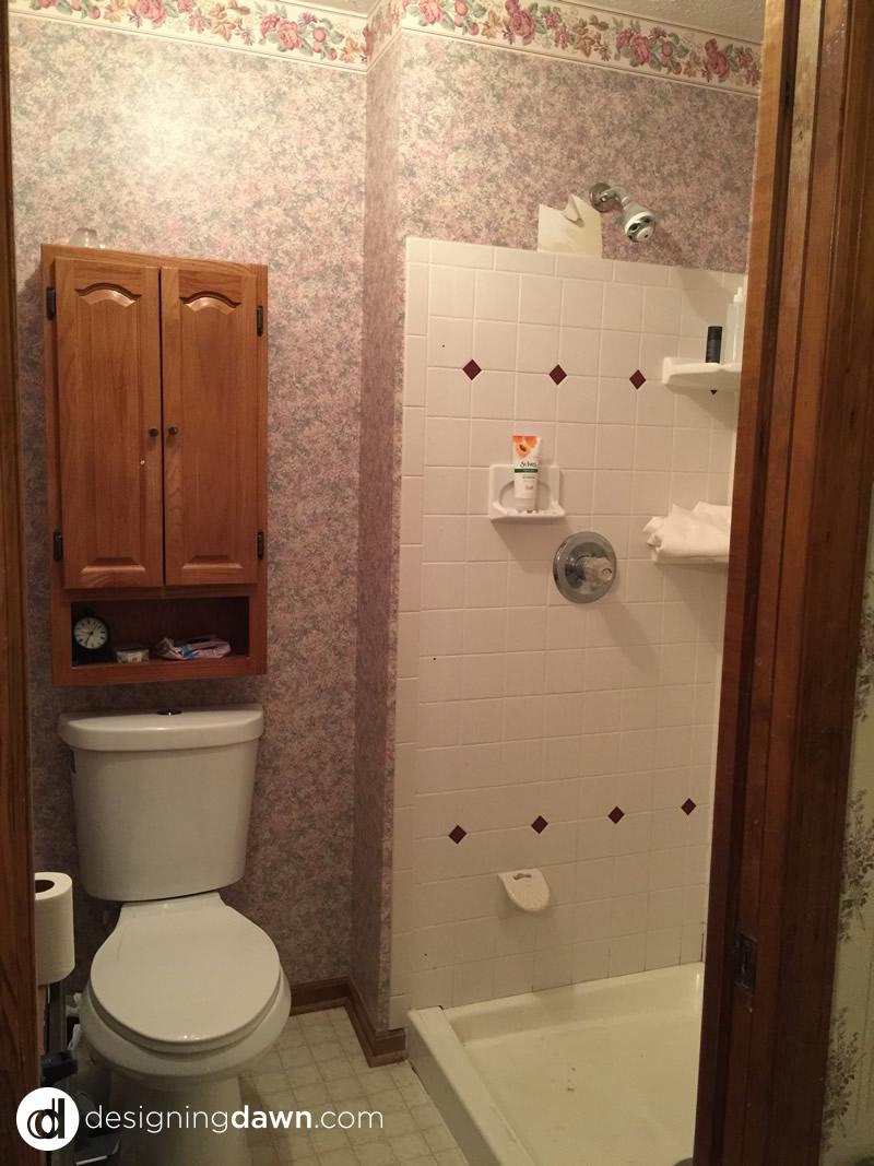 Master Bathroom Before - DesigningDawn.com