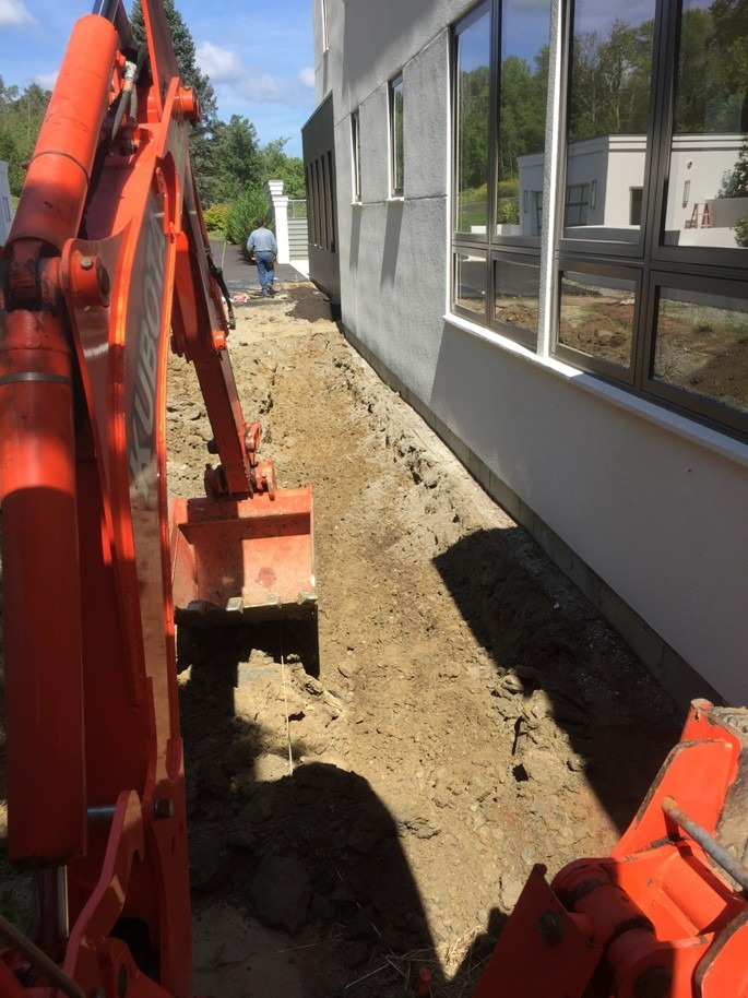 removing existing soil