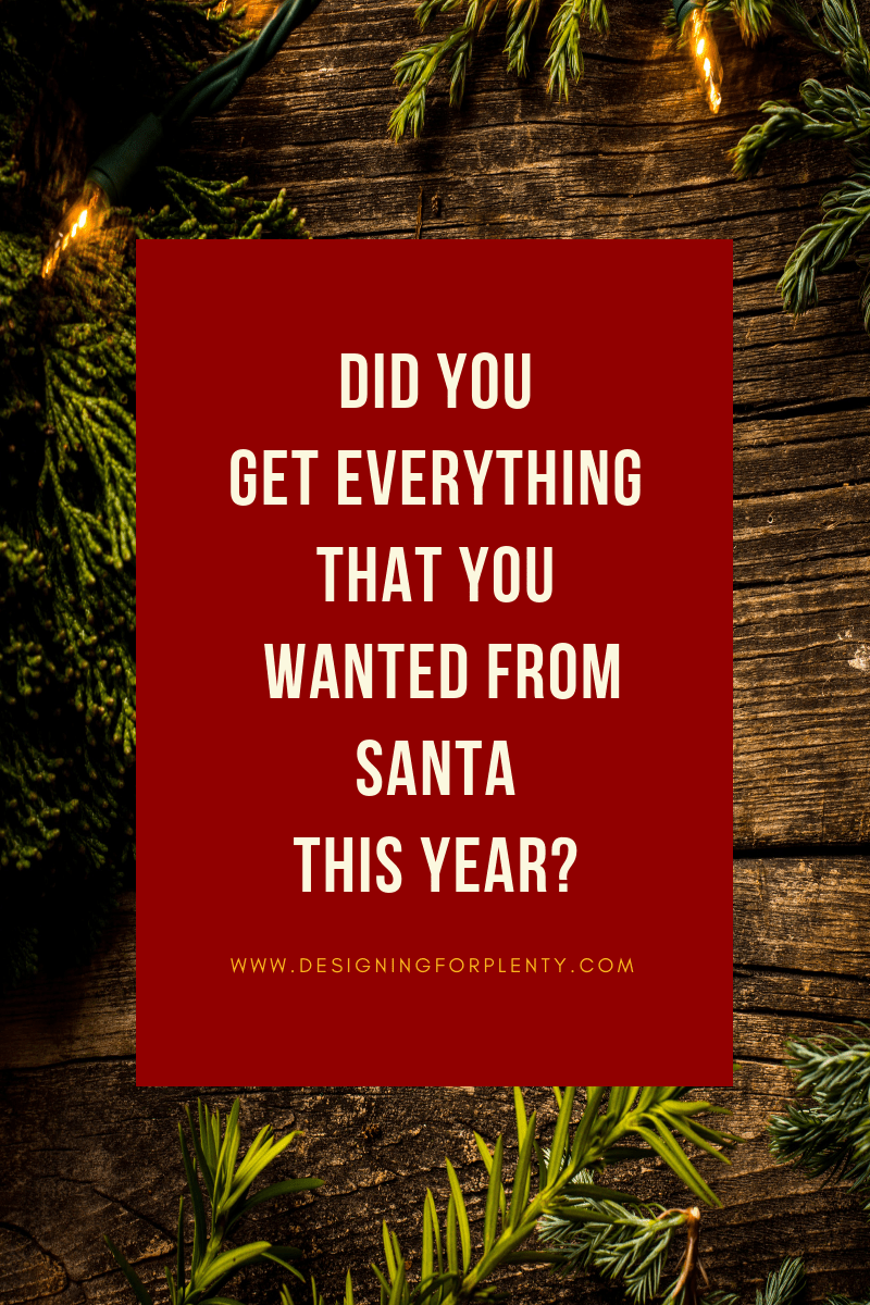 santa, goals, discover what you want, letter to santa, want, what you want, did you get everything that you wanted