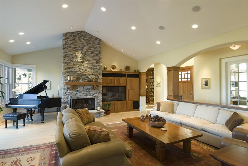 Large Living Rooms With Fireplaces Centerfieldbarcom