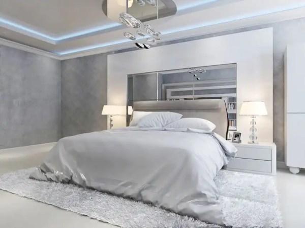 grey and white contemporary bedroom 40 Luxury Master Bedroom Designs - Designing Idea