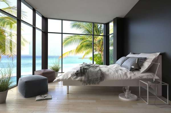modern bedroom with ocean view 93 Modern Master Bedroom Design Ideas (Pictures