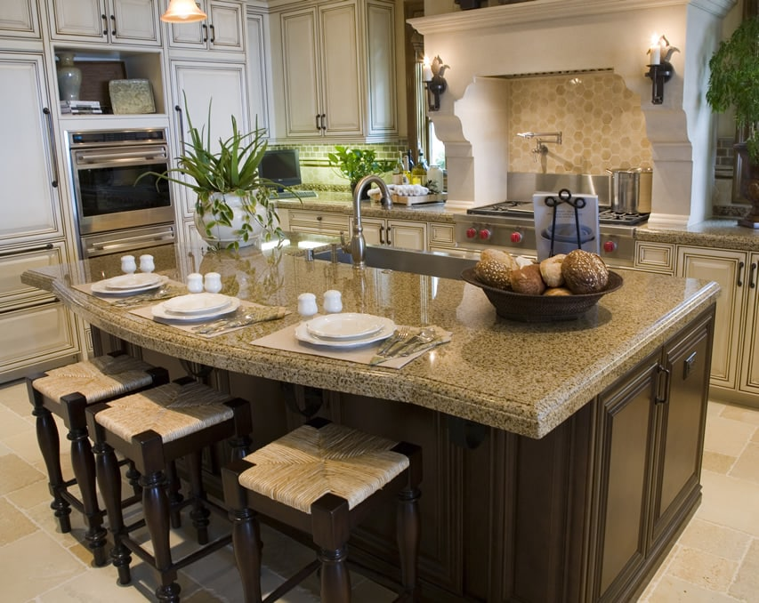 kitchen island with sink bbq outdoor kits 81 custom ideas beautiful designs designing idea eat in tan granite counters