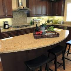 Kitchen Island Tops Discount Chairs 81 Custom Ideas Beautiful Designs Designing Idea Rounded Granite Counter Top