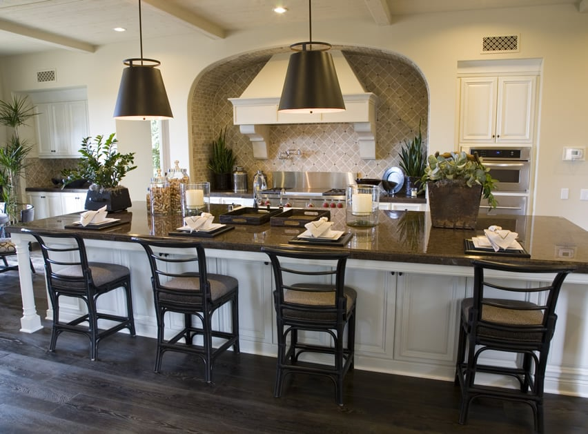 large kitchen island refurbished cabinets 81 custom ideas beautiful designs designing idea extra with seating and black granite countertop