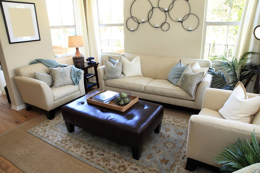 elegant living room design navy blue sofa ideas 50 rooms beautiful decorating designs designer decorated with leather ottoman