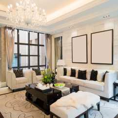 Ideas How To Decorate A Living Room Sets For Small Rooms 50 Elegant Beautiful Decorating Designs Luxury Home With Tray Ceiling White Couches And Chandelier