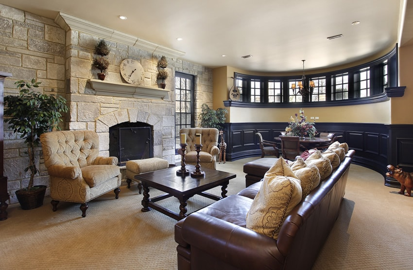How To Arrange Furniture In A Large Living Room With Fireplace And