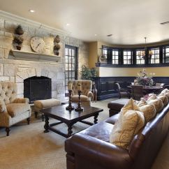 Pictures Of Decorated Living Rooms With Fireplaces Oriental Style 45 Beautiful Room Decorating Ideas Designing Idea Custom Designed Large Fireplace And Circular Window Area