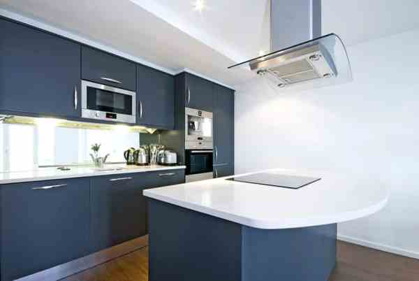 white kitchen cabinets blue countertops 27 Blue Kitchen Ideas (Pictures of Decor, Paint & Cabinet