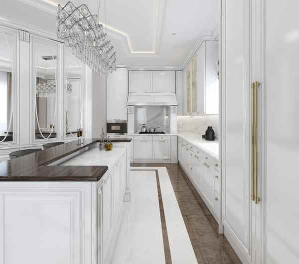white galley kitchen designs 35 Beautiful White Kitchen Designs (With Pictures