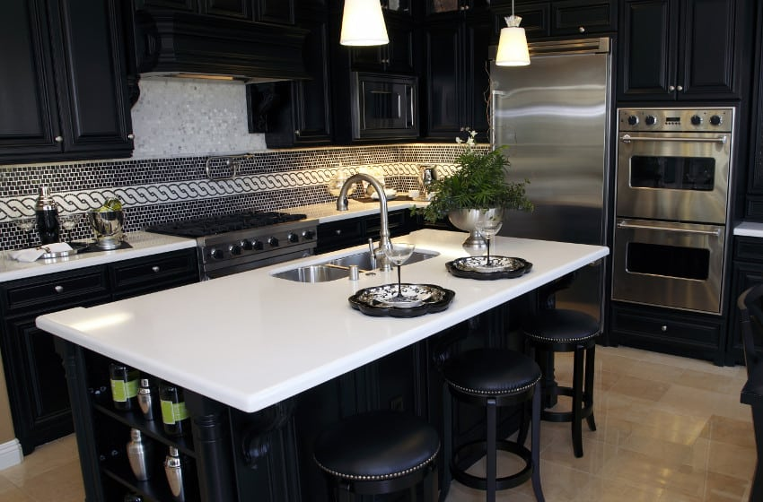 quartz kitchen countertops lowes kitchens pros and cons designing idea white countertop in