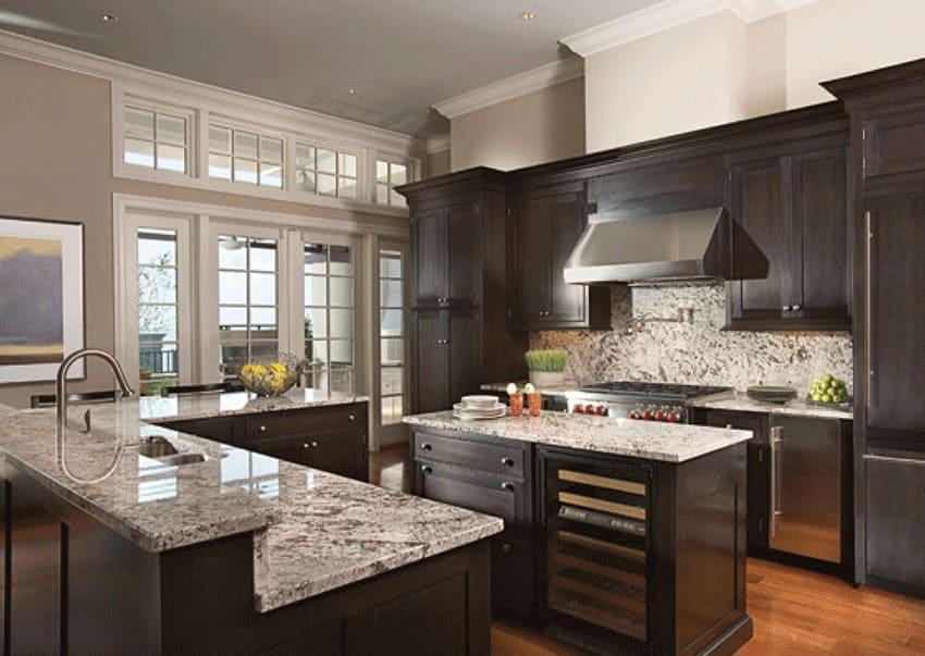50 HighEnd Dark Wood Kitchens Photos  Designing Idea