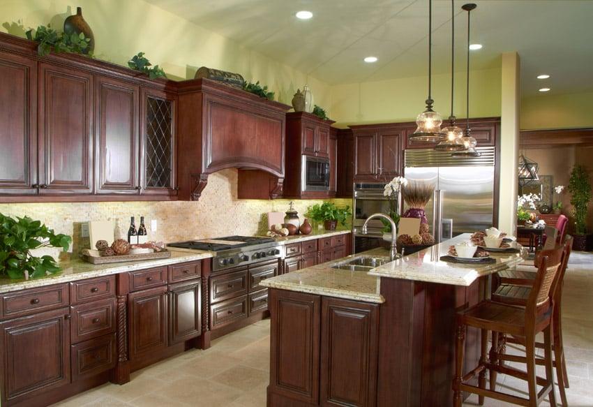 50 High-End Dark Wood Kitchens (Photos)