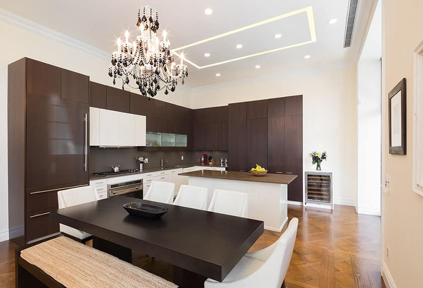 mahogany kitchen island rooster decorations for 50 high-end dark wood kitchens (photos) - designing idea