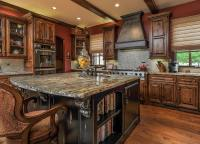 50 High-End Dark Wood Kitchens (Photos) - Designing Idea