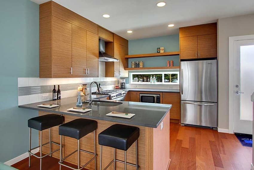 36 Stylish Small Modern Kitchens Ideas For Cabinets