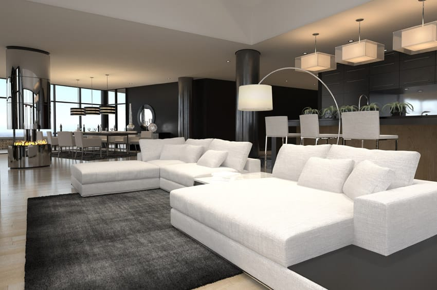 show pictures of modern living rooms how to choose a rug for room 60 stunning ideas photos designing idea black and white furnished