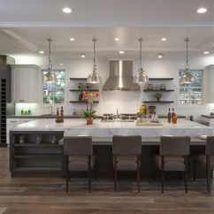 Large Kitchen Island Cabinet Sliding Shelves 50 Gorgeous Designs With Islands Designing Idea Extra Seating For Dining