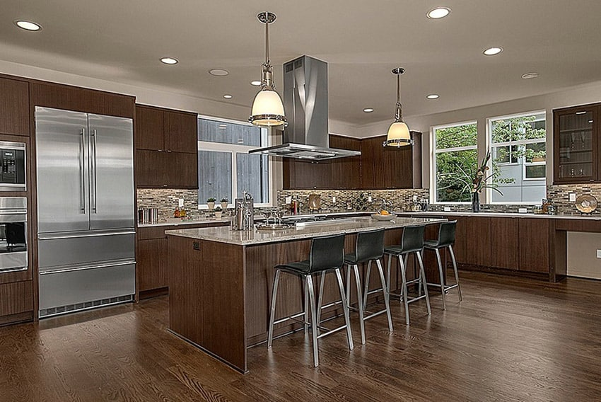 kitchen remodel cost subway tile backsplash guide price to renovate a designing contemporary with brown cabinets and glass
