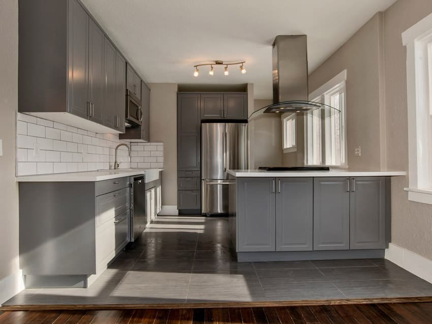 30 Beautiful Gray Countertops with White Cabinets