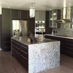 Kitchen Compact Wallpaper 29 Charming Designs Designing Idea Modern Dark Cabinets And Shiny Mosaic Tile