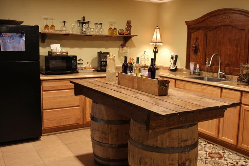yellow pine kitchen cabinets bar designs 25 portable islands (rolling & movable ...