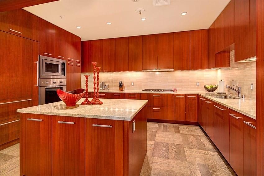 25 Cherry Wood Kitchens Cabinet Designs & Ideas Designing Idea