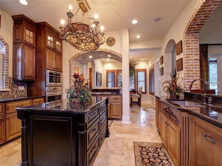 oak kitchen islands microwave stand for 47 brick design ideas (tile, backsplash & accent ...