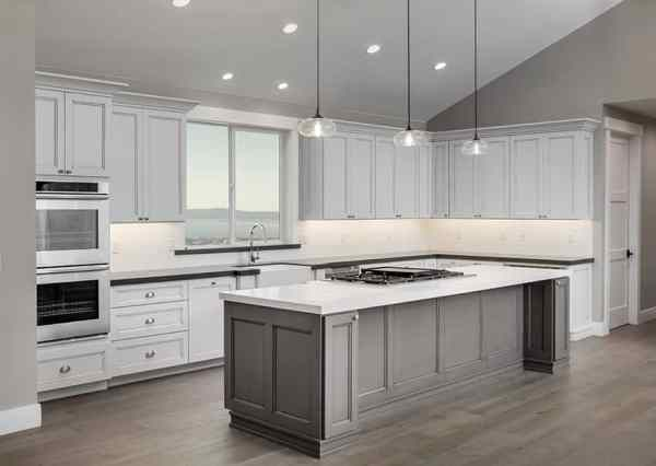 l shaped kitchen island with cabinets and design 37 L-Shaped Kitchen Designs & Layouts (Pictures) - Designing Idea
