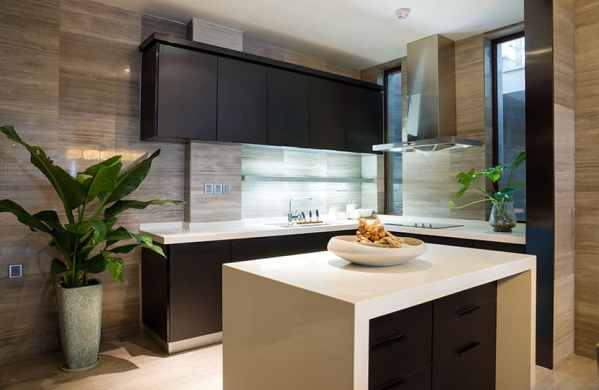 l shaped kitchen island with cabinets and design 37 L-Shaped Kitchen Designs & Layouts (Pictures