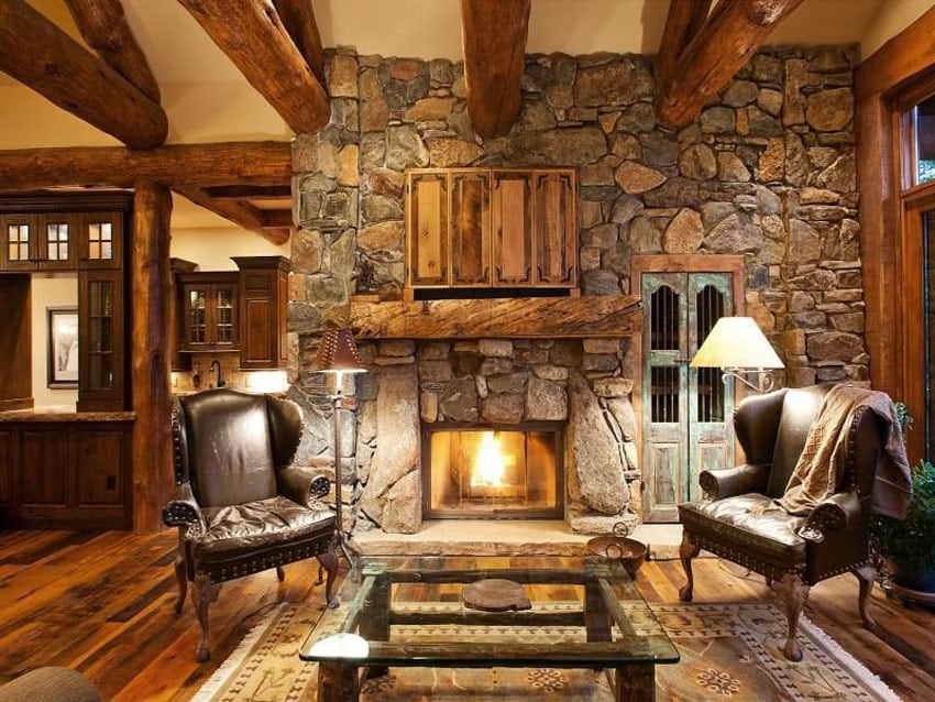pictures of living rooms with stone fireplaces apartment room layout rustic ideas designing idea craftsman hardwood floors