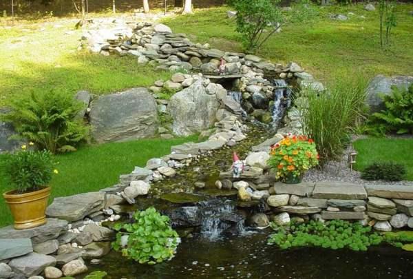 backyard garden waterfalls