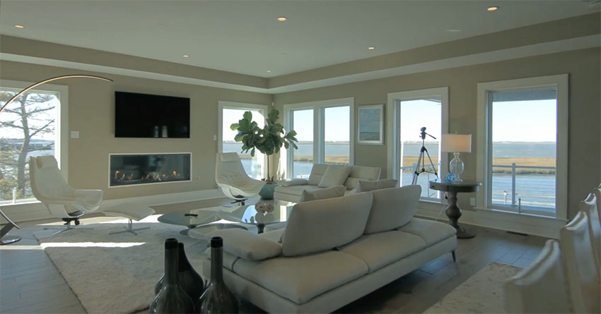 modern living room couches shabby chic decorating luxury 4 story house design on the waterfront - designing idea