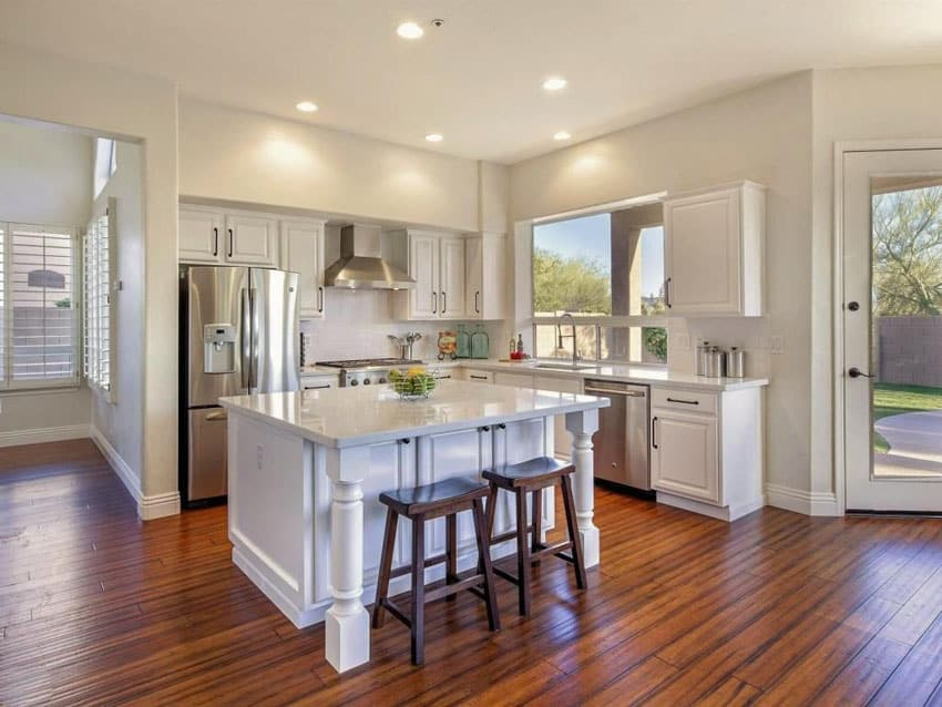 wood floors in kitchen renovations hardwood the pros and cons designing idea traditional with exotic tigerwood flooring