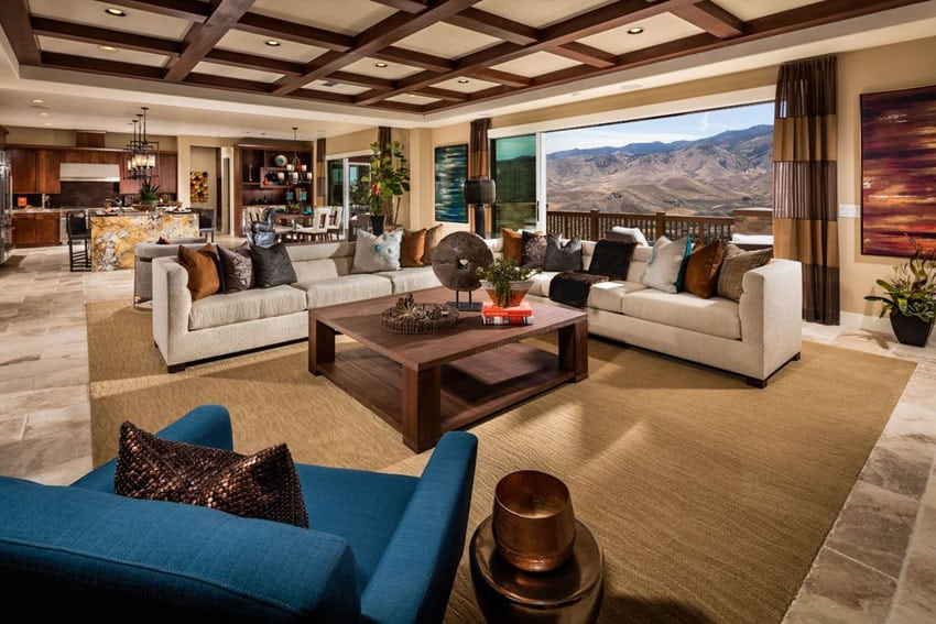 43 Beautiful Large Living Room Ideas Formal  Casual