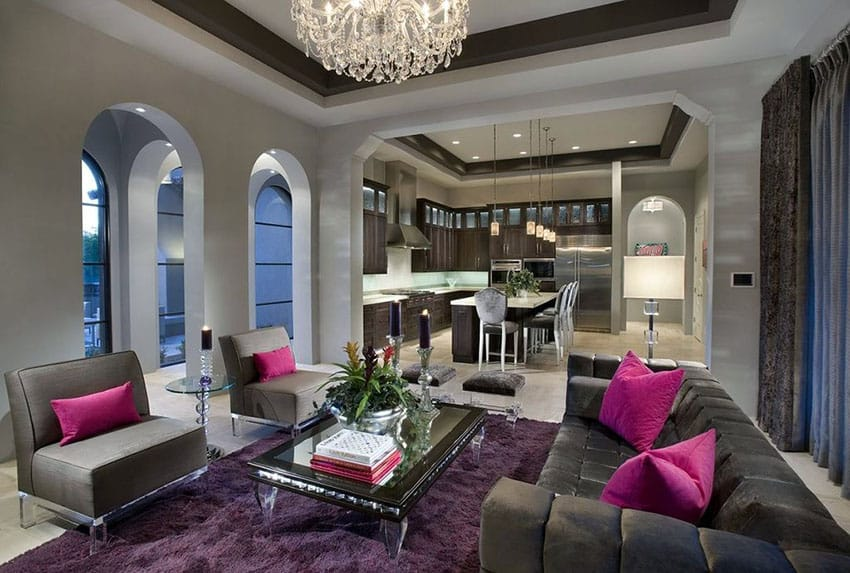 45 Beautifully Decorated Living Rooms Pictures Designing Idea. Living Room  Excellence Grey And Purple Including Part 48