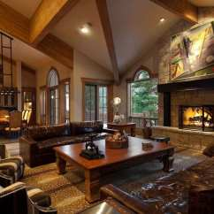 Interior Designs For Living Room With Brown Furniture Color Palettes Ideas 30 Craftsman Rooms (beautiful ...