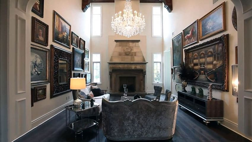 artwork for formal living room chaise lounge covers modern castle style home design interior exterior pictures with high ceiling chandelier and