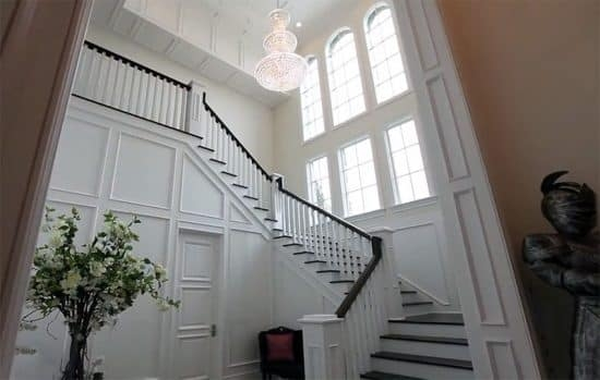 How To Stain Stair Railing Without Sanding Designing Idea | Black And White Staircase Railing | Colour Combination | House | Indoor | 1920'S | Floors