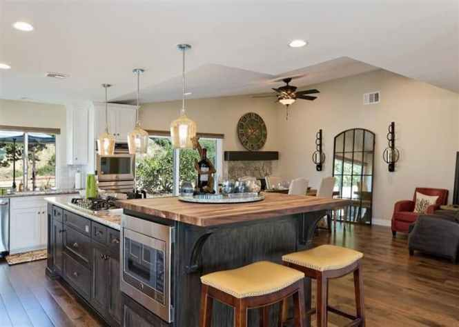 Kitchen Island With Counter And Eating Heights