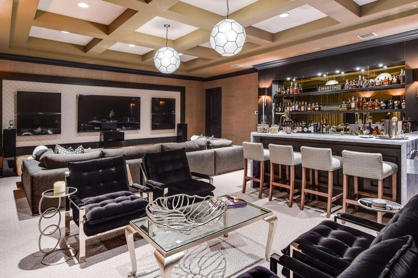 37 Custom Home Bars Design Ideas  Pictures  Designing Idea