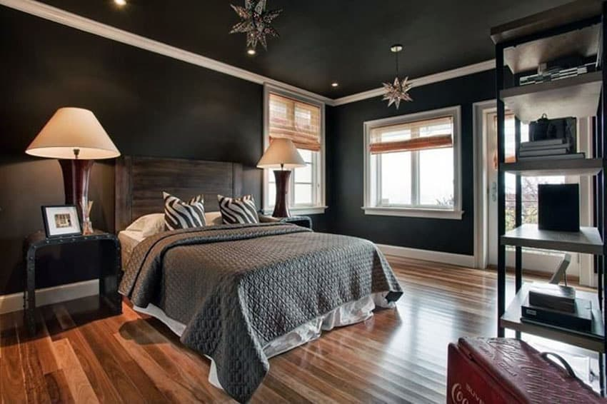 27 Jaw Dropping Black Bedrooms (Design Ideas)