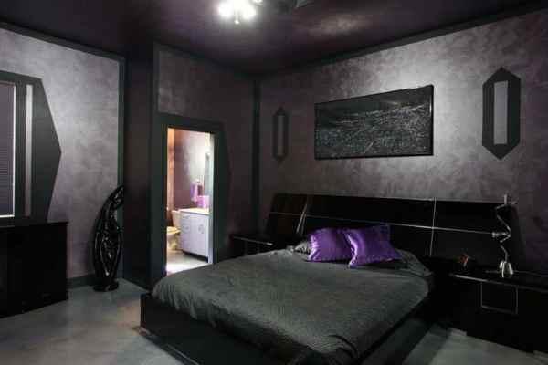 masculine bedrooms black bed 27 Jaw Dropping Black Bedrooms (Design Ideas) - Designing Idea