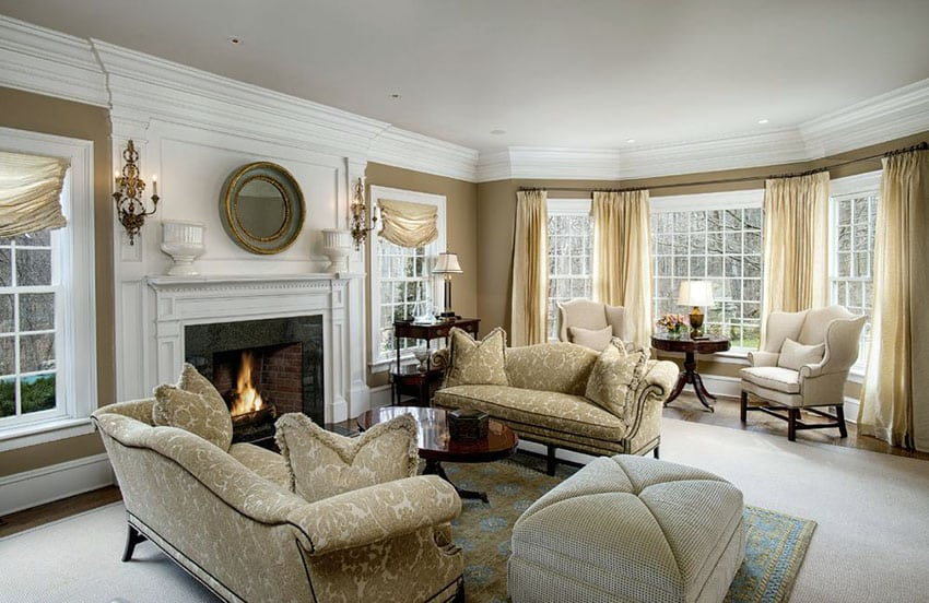 47 Beautiful Living Rooms Interior Design Pictures Designing Idea. Living  Room Furniture Ideas With Fireplace Formal ... Part 34