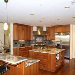 Teak Kitchen Cabinets Contemporary Lighting 27 Amazing Double Island Kitchens (design Ideas ...