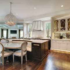 Large Kitchen Islands With Seating Diy Cabinet 37 Pictures Designing Idea White Flat Panel Cabinets And Island Built In Bench