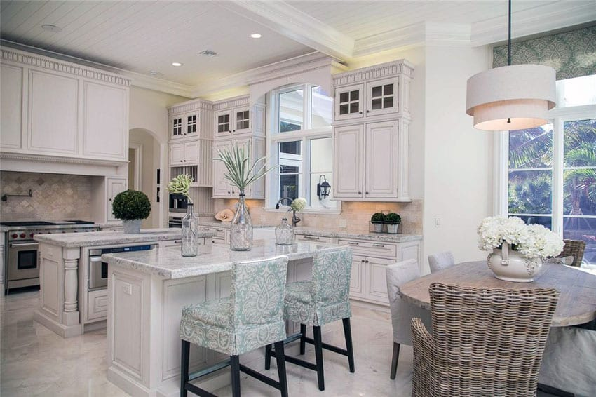 planning a kitchen island planner 27 amazing double kitchens design ideas designing idea luxury traditional with two islands damasco white marble counters and cabinetry glass
