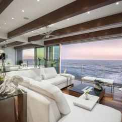 Beautiful Living Room Interior Designs Cute Ideas 47 Rooms Design Pictures Designing Idea Ocean View Contemporary With Sliding Glass Doors Wood Flooring And Beam Ceiling