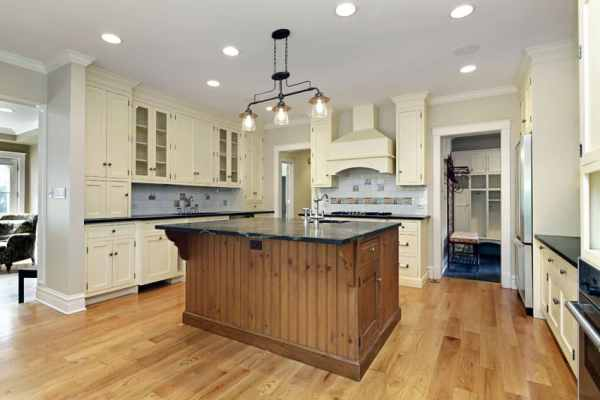 cream kitchen with islands 23 Reclaimed Wood Kitchen Islands (Pictures) - Designing Idea
